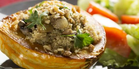 Stuffed Squash meal