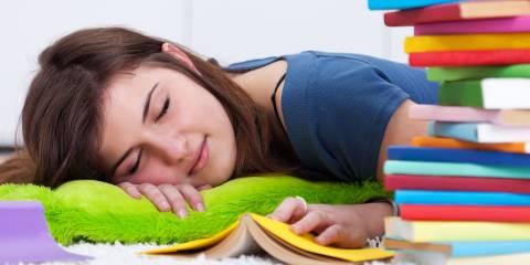 Sleepy teenager