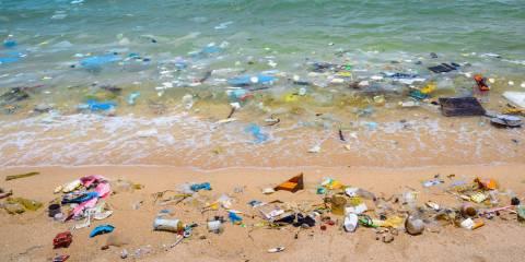 trash in the ocean