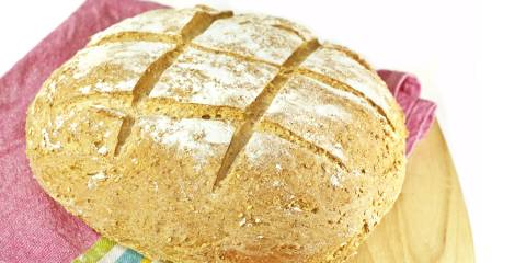 a loaf of fresh-baked soda bread
