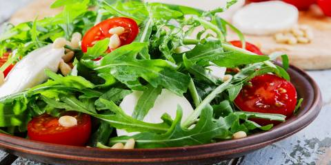 A beautiful Summer Salad (Insalata Estiva) ready to eat!