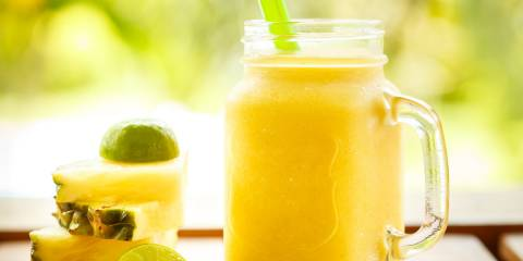 orange juice pineapple lime kale