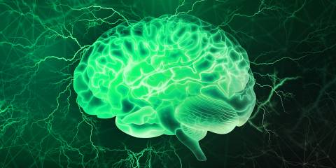a representation of the brain's natural electricity