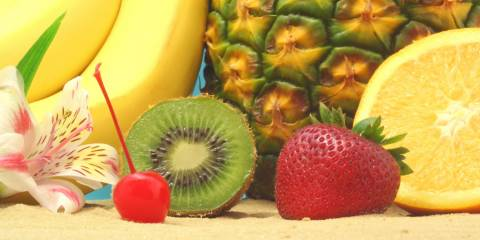 Fruit, Kiwi, Strawberry and Banana