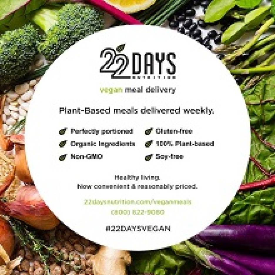 22 Days Nutrition Vegan Meal Delivery
