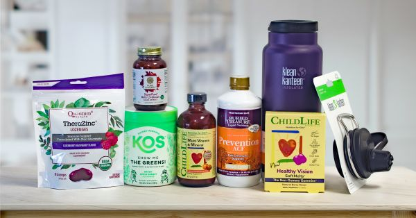 a wide variety of all-natural supplements, plus a canteen