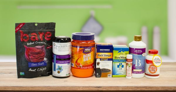 An assortment of all-natural products
