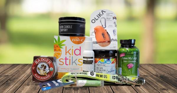 a variety of all-natural products