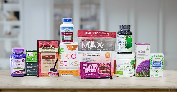 a collection of various all-natural foods and supplements