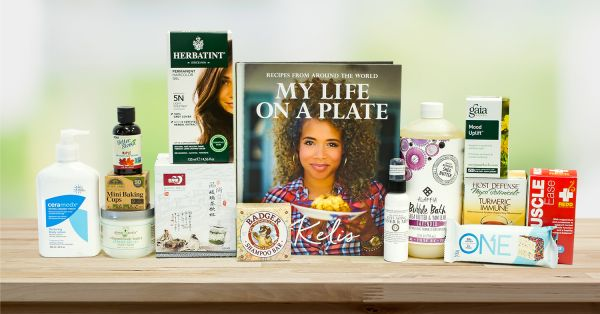 A selection of all-natural products for self-care