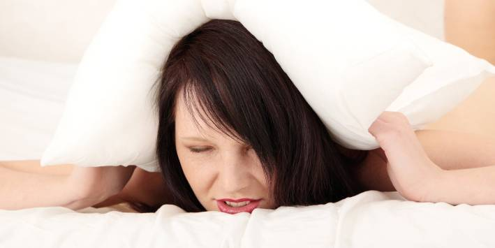 Woman cannot sleep