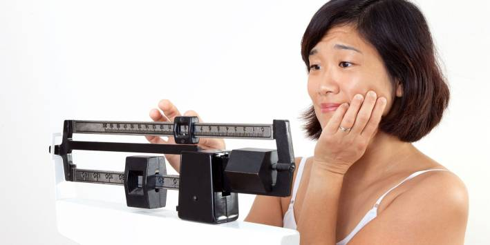 Disappointed Woman with Weight Goals