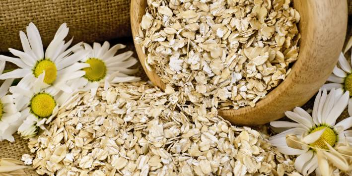 oats and chamomile for bath