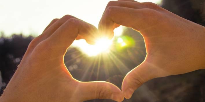 Heart in the sun