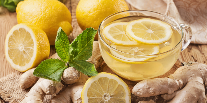 Lemon, ginger, other digestive foods