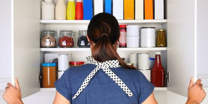 Woman in Pantry