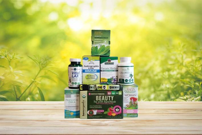 a variety of all-natural products for women's health and wellness