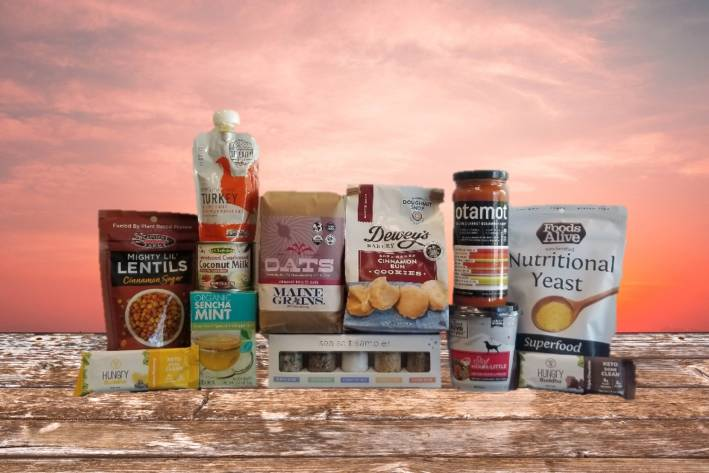 a selection of all-natural foods