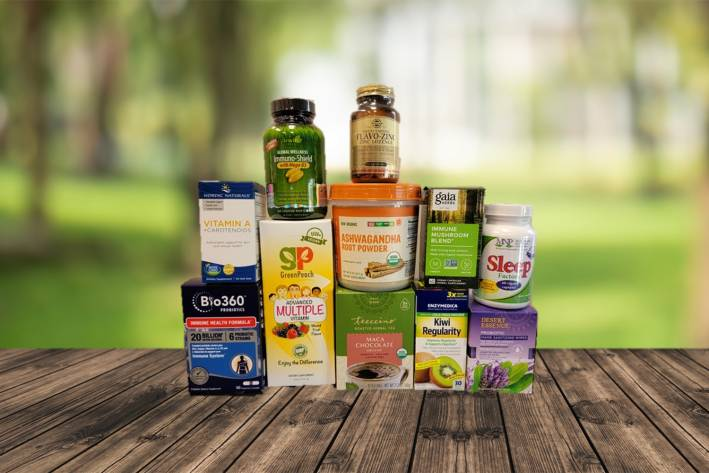 a wide variety of all-natural supplements