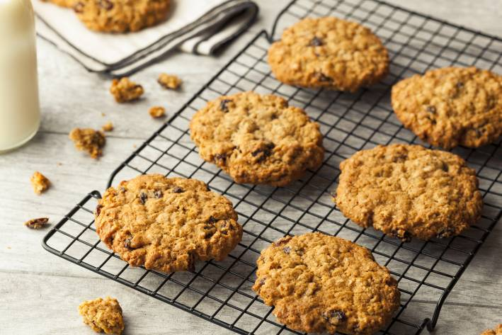 Oatmeal Sweet Potato Cookies on a cooling rack.