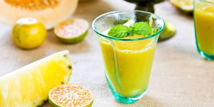 Orange Pineapple smoothie.