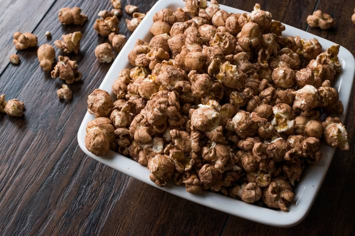 popcorn covered in chocolate