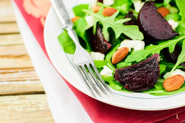 roast beets as a salad topping