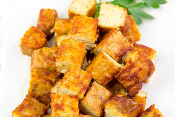 grilled and seasoned tempeh