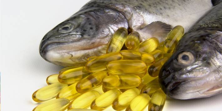 Fish oil tablets and Fish