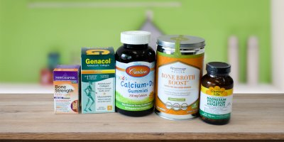 A selection of all natural vitamins and supplements for your bones and joints