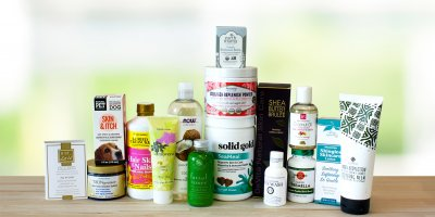 A selection of all-natural products for healthy skin.