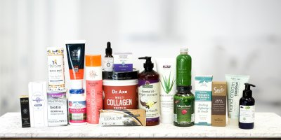 A selection of all natural beauty products