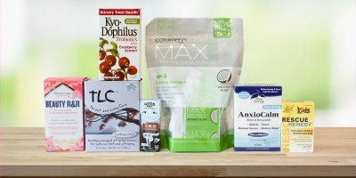 A selection of all-natural products to keep you calm and healthy