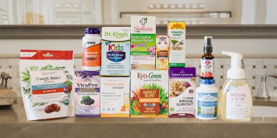 A selection of all-natural products to help fight off the common cold