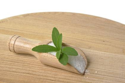 A scoop of stevia, a natural sugar alternative