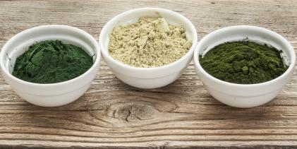 chlorella and kale