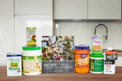 A selection of all-natural products for weight loss and energy
