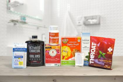 A selection of all-natural products for your mouth and throat
