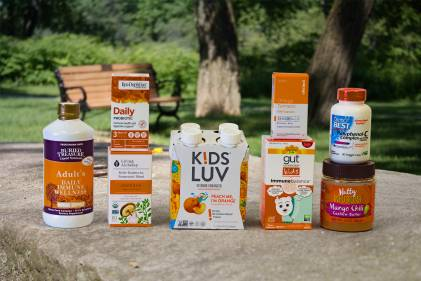 a selection of all-natural supplements and foods