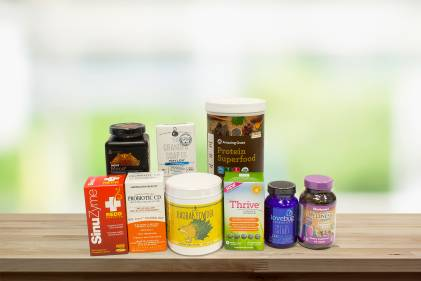 A collection of all-natural products ranging the spectrum