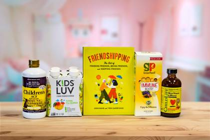 all-natural supplements for kids, and a book about friendship