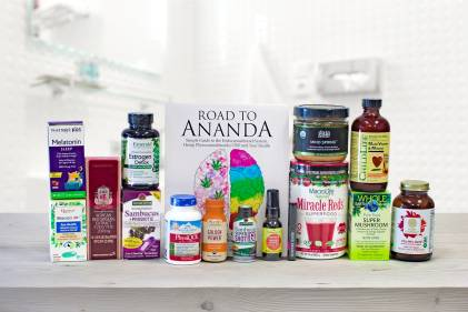 all-natural supplements and a book about cannabinoids