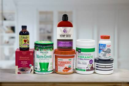a wide variety of all-natural supplements, body care products, and super-foods.