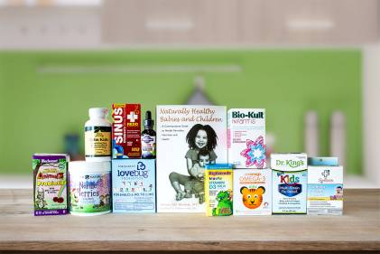 A range of natural wellness products for children