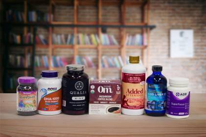 a selection of all-natural supplements for the mind