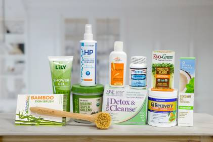 All natural products for cleaning, detox, and body care