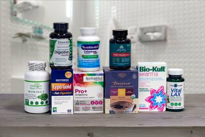 a selection of all-natural digestive support