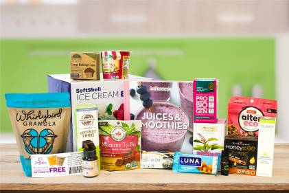 A selection of all natural snacks, body care products, supplements, and a few other goodies