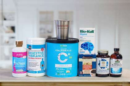 a collection of all-natural supplements