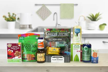 A collection of all-natural snacks, oral care products, and more.